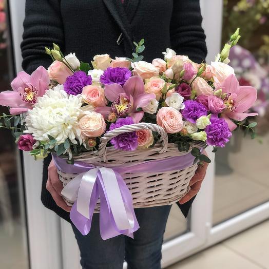 Корзина с цветами 💐