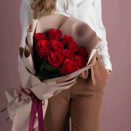 Красные розы 13