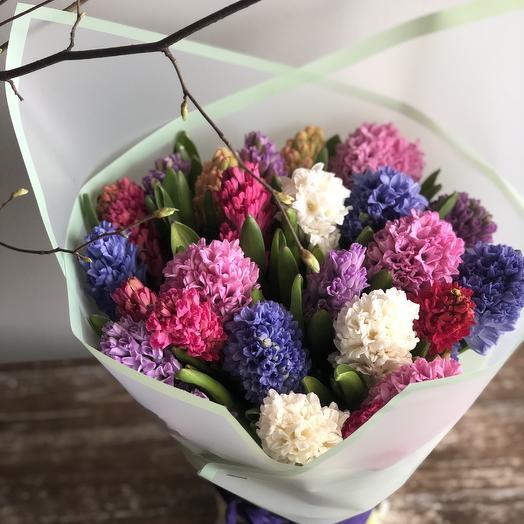 Букет из гиацинтов микс: букеты цветов на заказ Flowwow