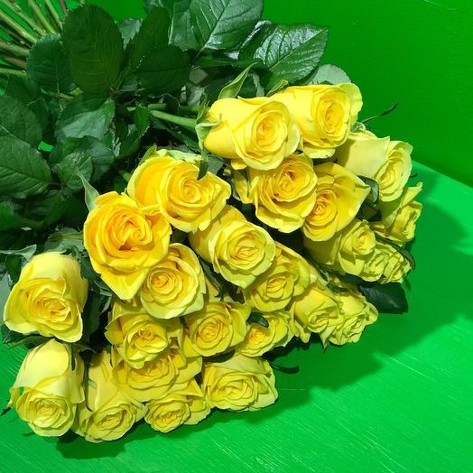 15 желтых роз: букеты цветов на заказ Flowwow