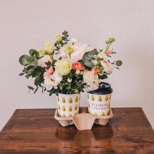 Сет Цветы-Кофе