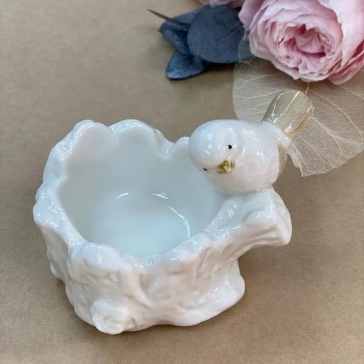 Птичка-подсвечник из керамики премиум класса (Польша)