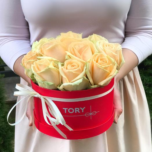 """Розы в коробке """"Радость"""""""