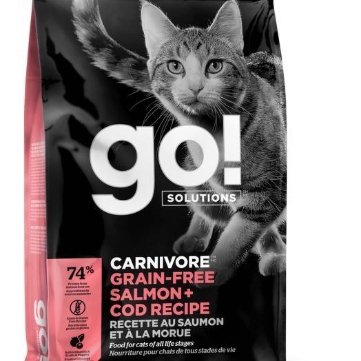 GO! беззерновой корм для котят и кошек с лососем и треской 3,63 кг