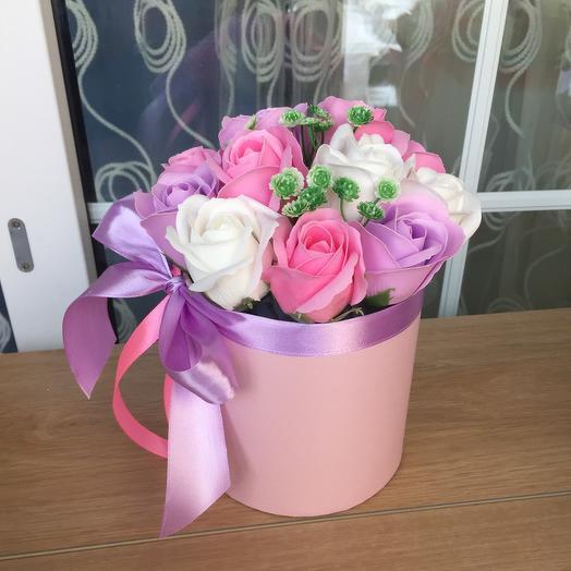 Букет цветов (цветы из мыла)