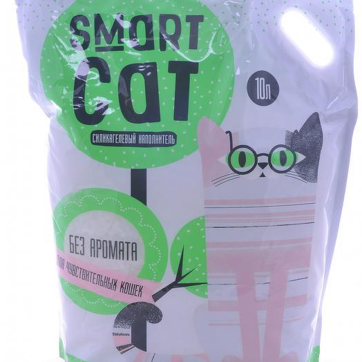 Smart Cat наполнитель силикагелевый для чувствительных кошек, без аромата 10 л
