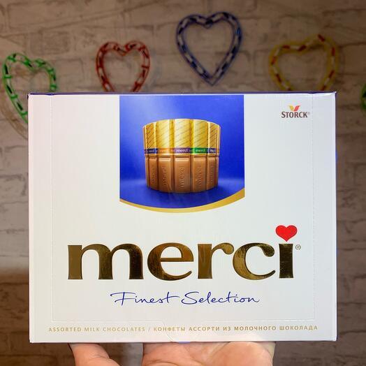 Конфеты Merci из молочного шоколада