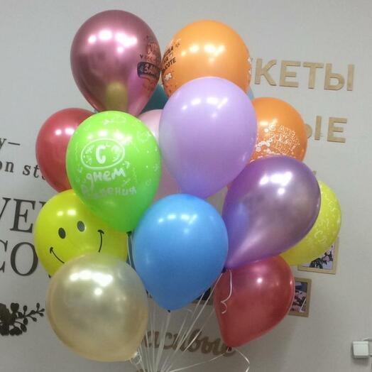 Облако шаров на День Рождения