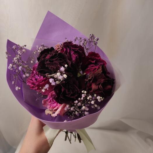 Букетик комплимент из сухих роз