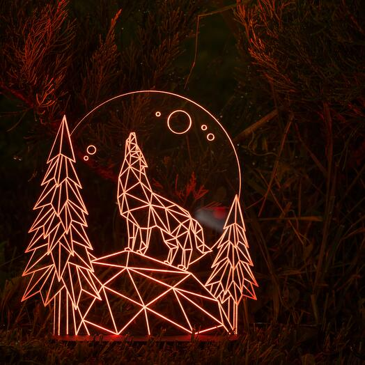 Лампа-ночник Волчья тропа
