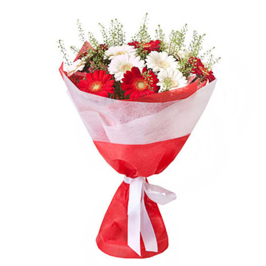 White and red: flowers to order Flowwow