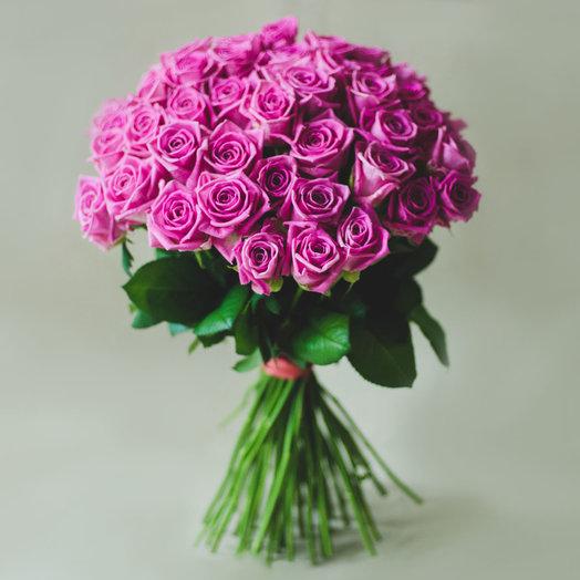 Букет из 51 розовой розы: букеты цветов на заказ Flowwow
