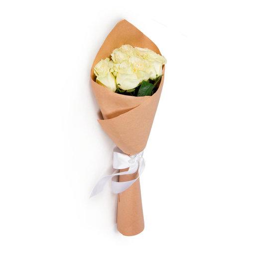 Букет из белой розы: букеты цветов на заказ Flowwow