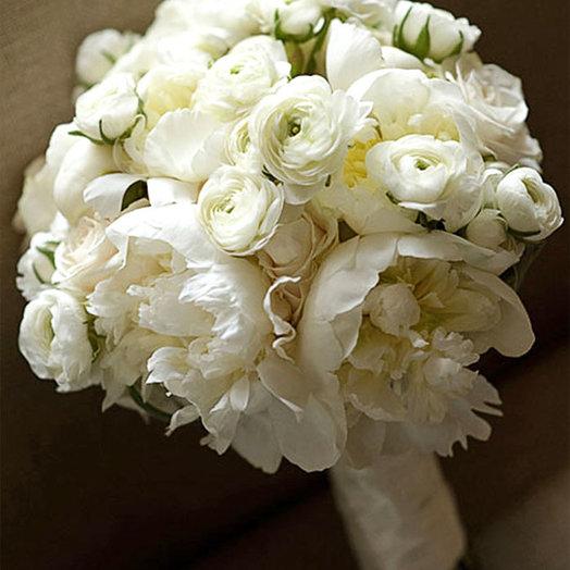 Букет невесты «Белые лютики»: букеты цветов на заказ Flowwow