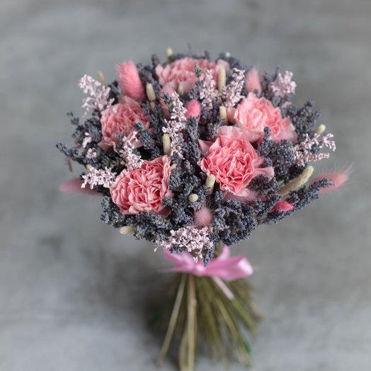 """""""Кружева"""" или Букет из диантуса и сухоцветов: букеты цветов на заказ Flowwow"""