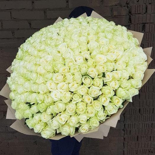 201 белая роза: букеты цветов на заказ Flowwow