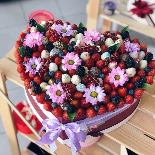 Яркое сердце: букеты цветов на заказ Flowwow