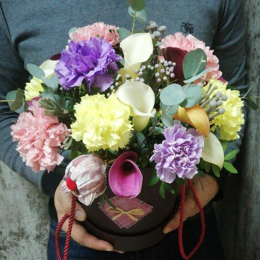 Каллы с диантусом: букеты цветов на заказ Flowwow