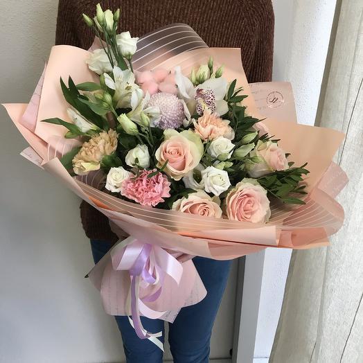 С нежностью - сборный букет: букеты цветов на заказ Flowwow
