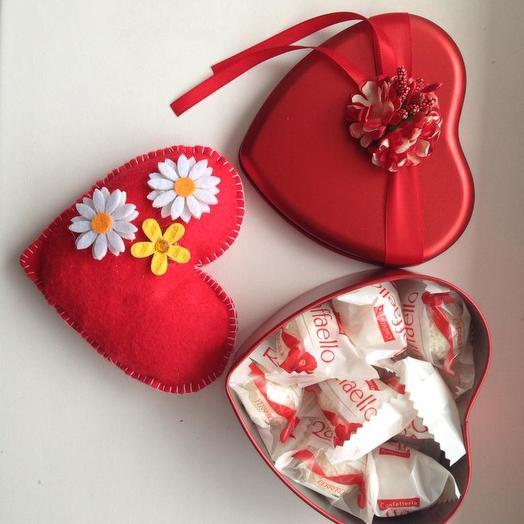 Сладкая Валентинка 2: букеты цветов на заказ Flowwow
