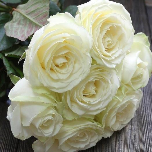 Букет белых роз 7 шт