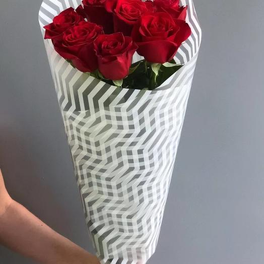 "Букет из 7 роз ""Виктория"": букеты цветов на заказ Flowwow"