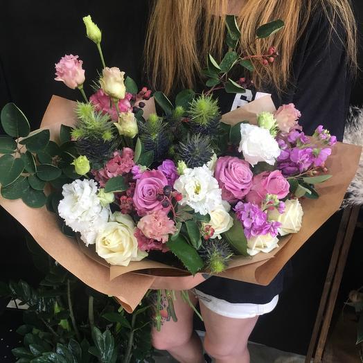 Фиолетовый бриз: букеты цветов на заказ Flowwow