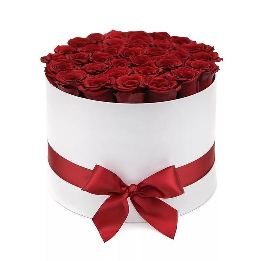 Шляпная коробка PREMIUM: букеты цветов на заказ Flowwow
