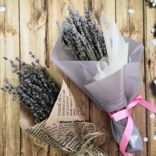 Сухоцвет лаванда: букеты цветов на заказ Flowwow