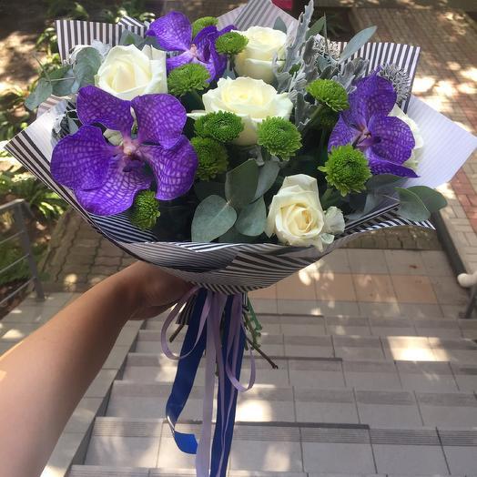Букет «Дикая орхидея»: букеты цветов на заказ Flowwow