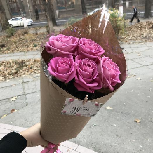 Роза 5 шт в упаковке