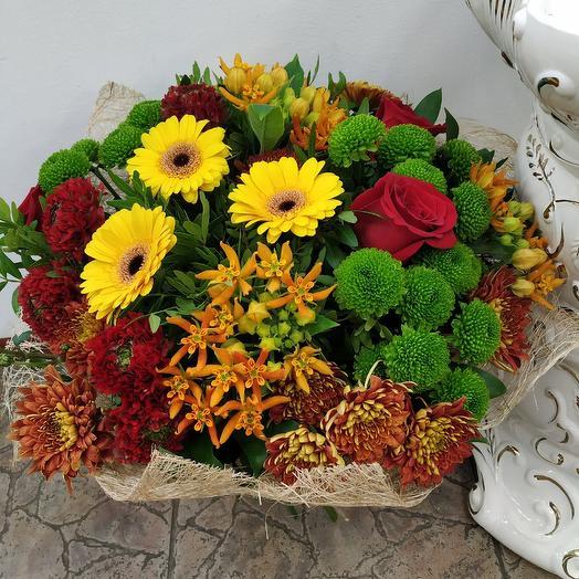 """Букет с ранункулюсами, гермини и асклепиас """"Прованс"""": букеты цветов на заказ Flowwow"""