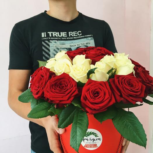 Премиум-коробка из 35 роз для любимых
