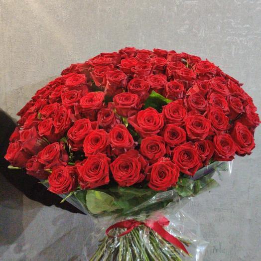 Букет из 101 розы 80 см: букеты цветов на заказ Flowwow