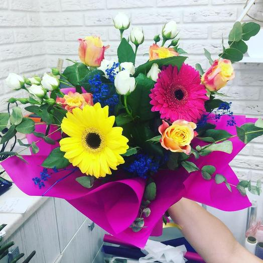 Букет «Яркие эмоции»: букеты цветов на заказ Flowwow