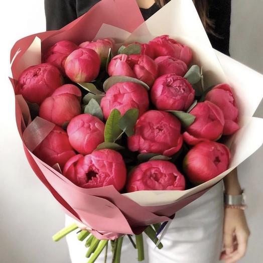 Пионы Корал: букеты цветов на заказ Flowwow
