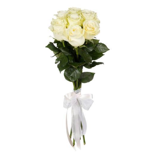 Букет из белых роз 7 шт