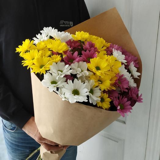 Яркий микс из ромашек: букеты цветов на заказ Flowwow