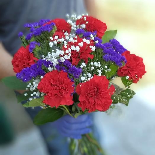 Букет к 9мая: букеты цветов на заказ Flowwow