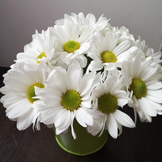 Ромашки в ведерке: букеты цветов на заказ Flowwow