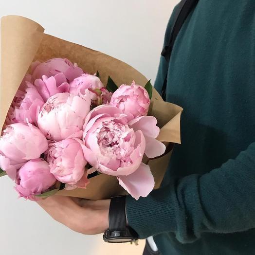 Мини букет из 9 пионов: букеты цветов на заказ Flowwow