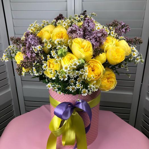 Коробка из цветов: букеты цветов на заказ Flowwow