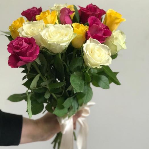 Букет из 15 кенийских роз 🌹