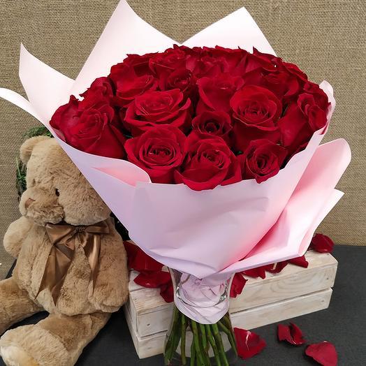 Роза (Эквадор) 40 см 25 шт. в упаковке