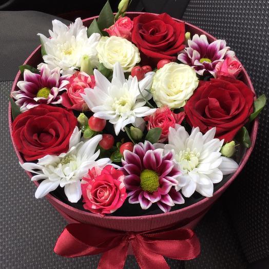 Цветы в коробке 555