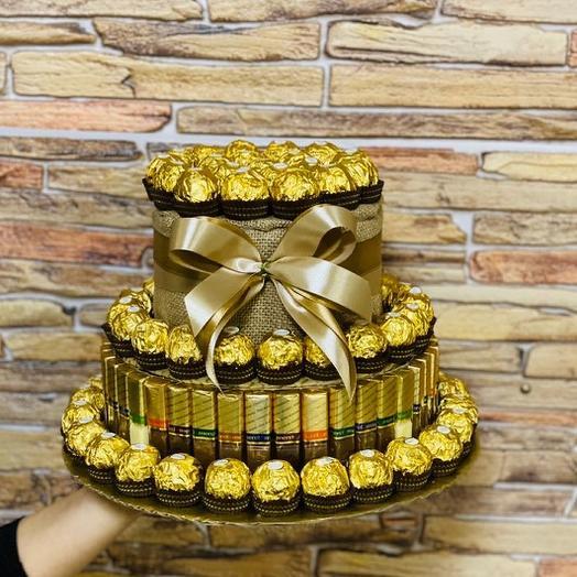 Торт из конфет «Шоколадное наслаждение»