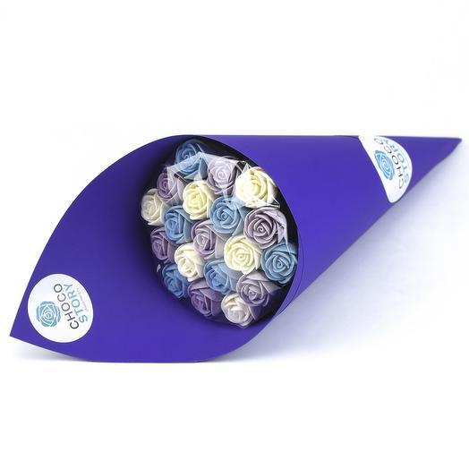 Букет из 19 шоколадных роз B19-F-FBG