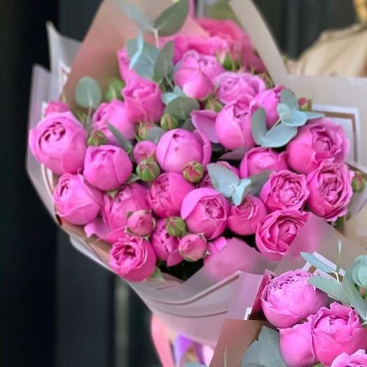 Букет кустовых роз Кустовые розы Букет из кустовых роз Розы Мисти Баблз