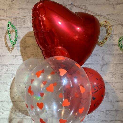 Набор из 4х шаров для влюблённых