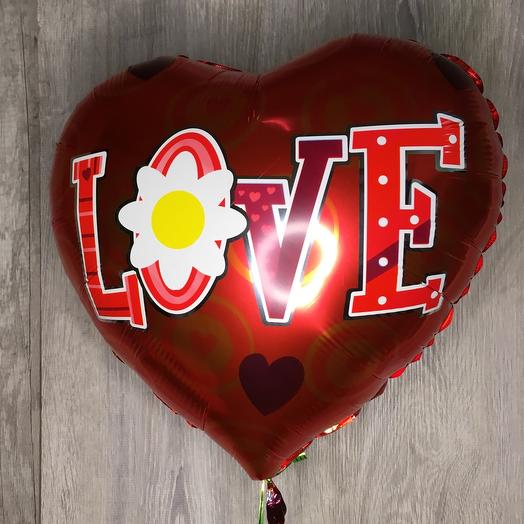 Шар фольгированный love